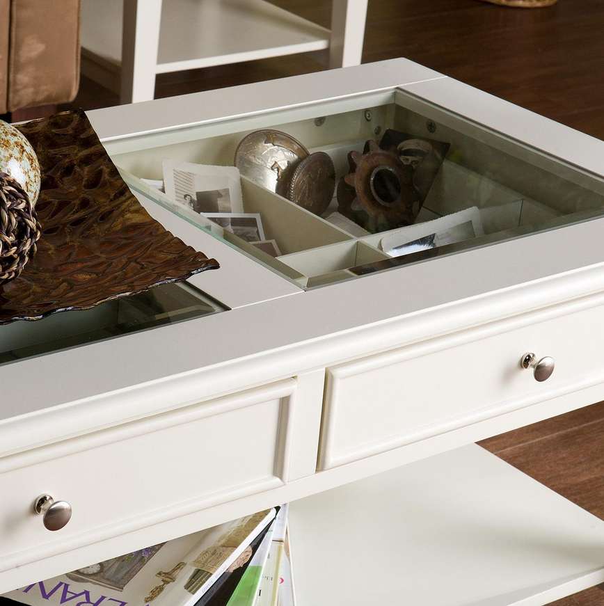 white panorama coffee table see through top – christian's table