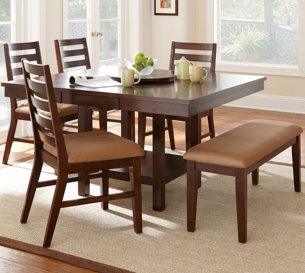 Square 6 Piece Dining Table Set - Christian's Table