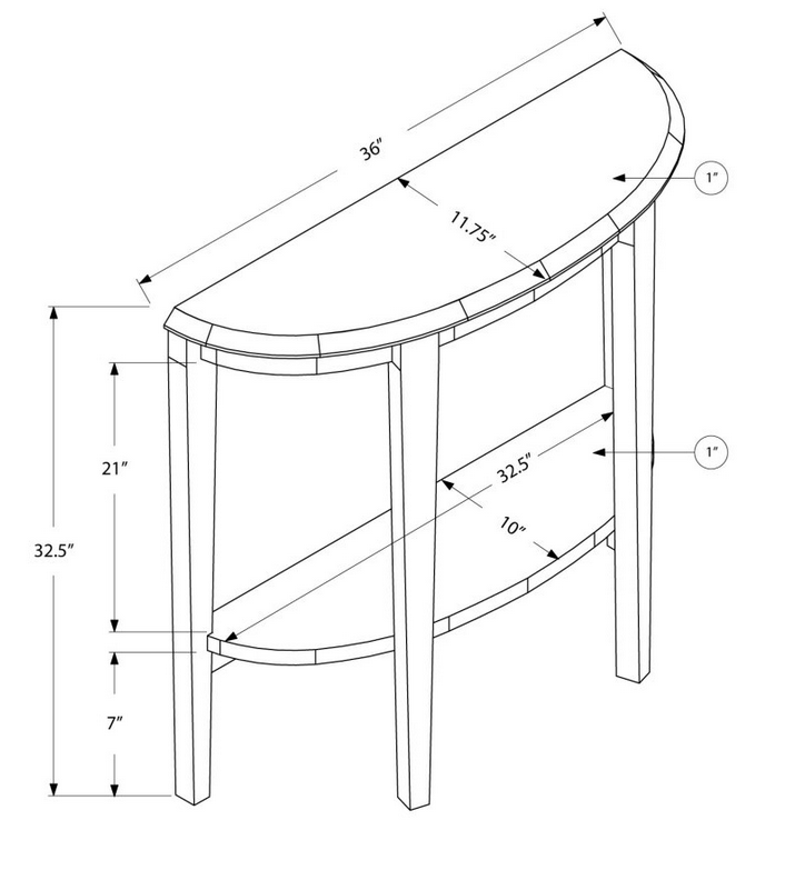 Half Circle Entry Table