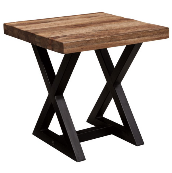 Rustic Brown End Table - Christian's Table
