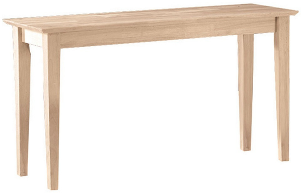 Unfinished Shaker Sofa Console Table - Christian's Table