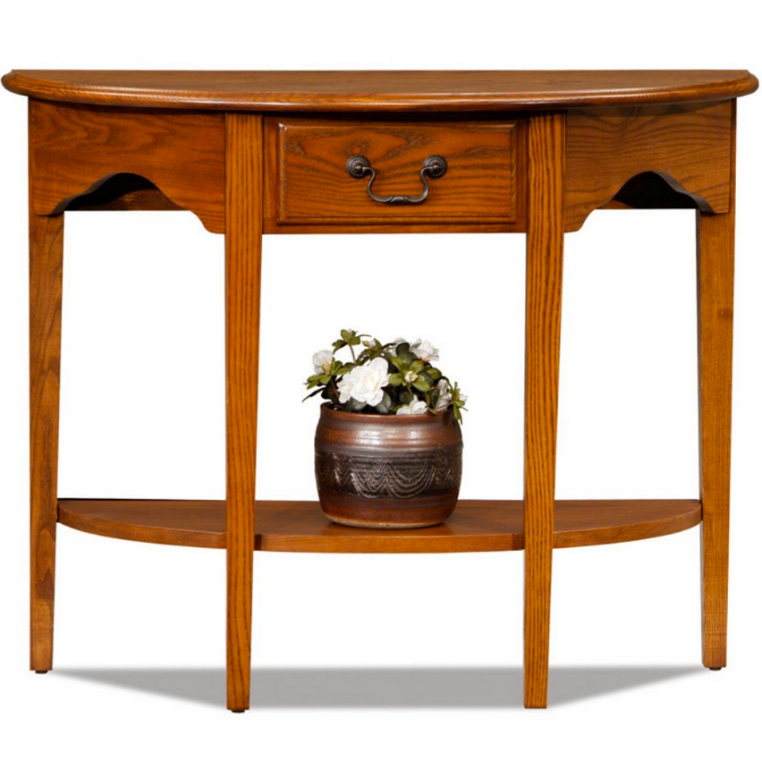 Wood Half Moon Console Table - Christian's Table