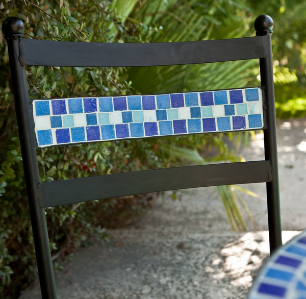 Mosaic Bistro Set With Black Cushion - Christian's Table