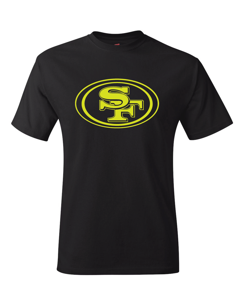 San Francisco 49ers Logo Black Performance Dri-Fit Logo Tee