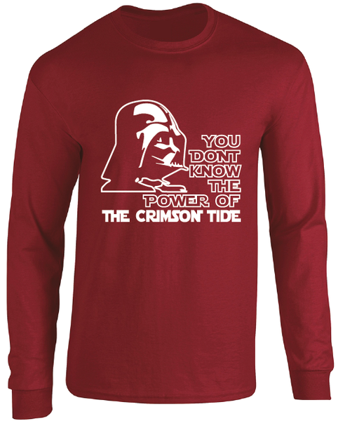 Alabama Crimson Tide Darth Vader Star Wars Style Long Sleeve T-Shirt