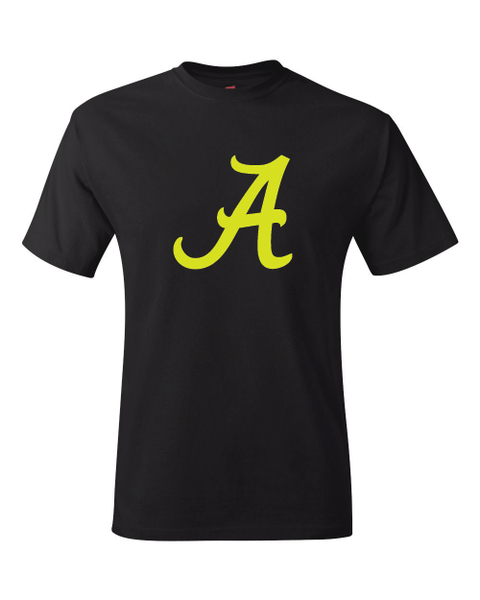 Alabama Crimson Tide Logo Black Performance Dri-Fit Logo Tee