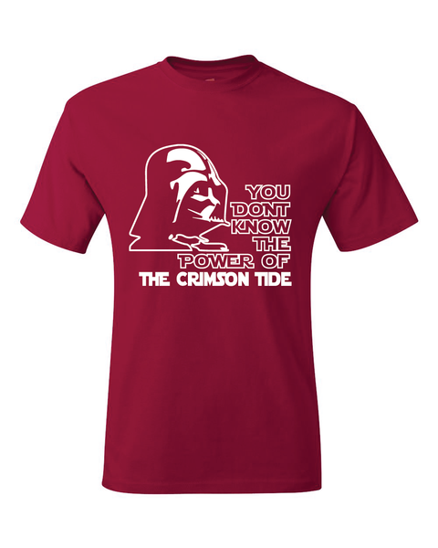 Alabama Crimson Tide Darth Vader Star Wars Style T-Shirt