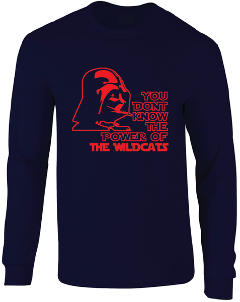 Arizona Wildcats Darth Vader Star Wars Style Long Sleeve T-Shirt