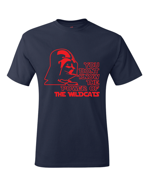 Arizona Wildcats Darth Vader Star Wars Style T-Shirt