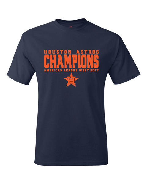 Astros 2017 American League West Division Champions T-Shirt