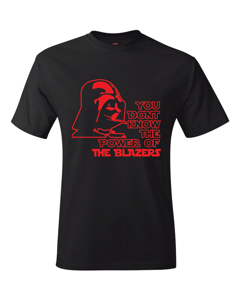 Portland Trail Blazers Darth Vader Star Wars Style T-Shirt