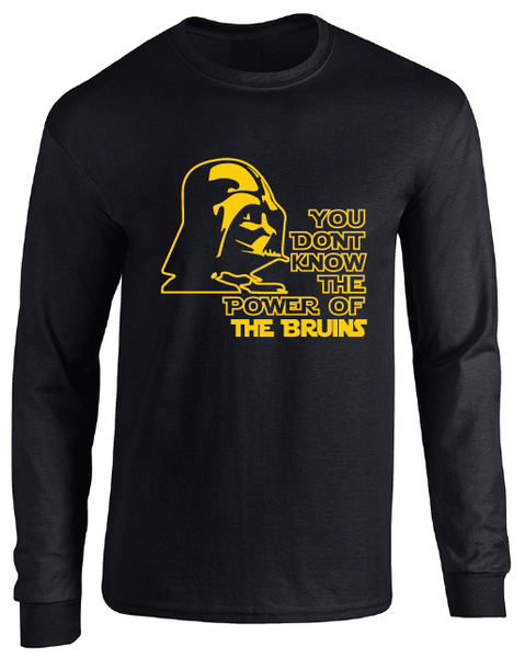 Boston Bruins Darth Vader Star Wars Style Long Sleeve T-Shirt