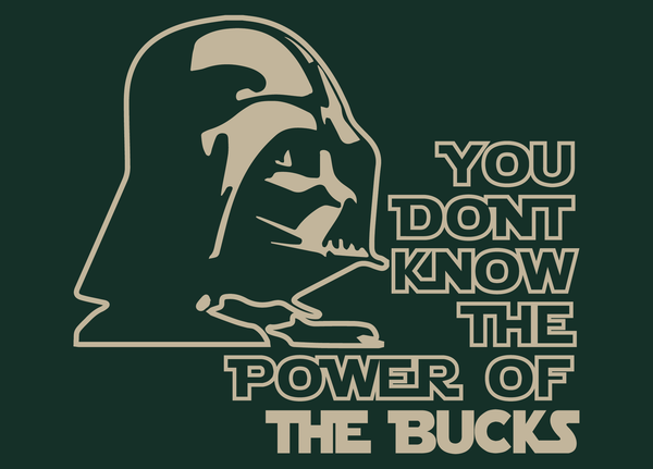 Milwaukee Bucks Darth Vader Star Wars Style T-Shirt