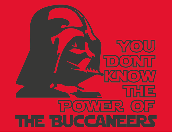 Tampa Bay Buccaneers Darth Vader Star Wars Style T-Shirt