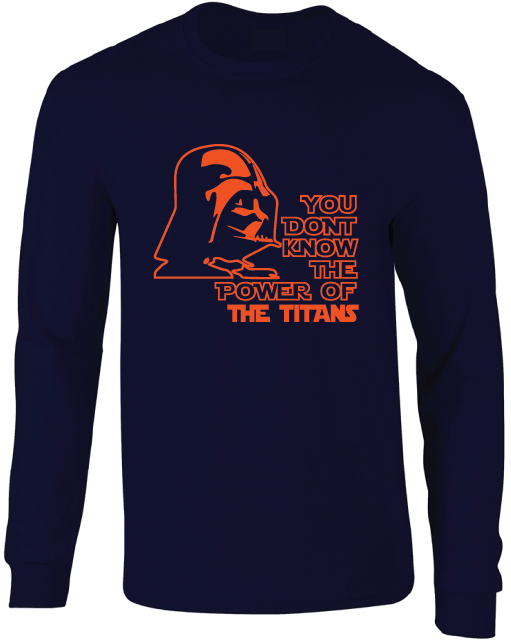 Cal State Fullerton Titans Darth Vader Star Wars Style Long Sleeve T-Shirt