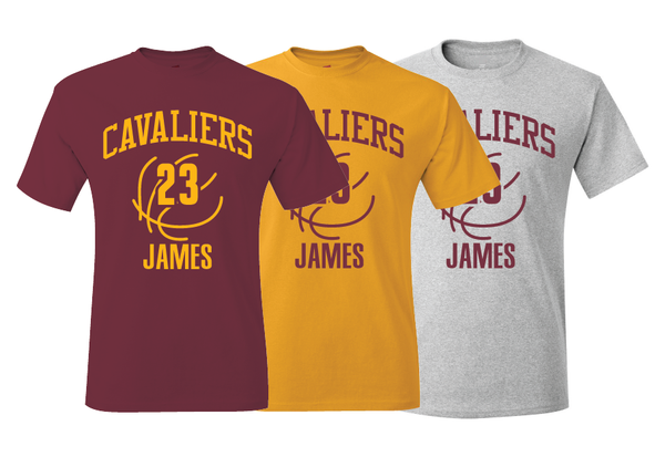 Cleveland Cavaliers LeBron James Training Camp Jersey T-Shirt