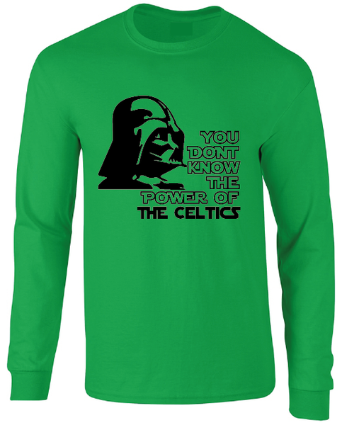 Boston Celtics Darth Vader Star Wars Style Long Sleeve T-Shirt