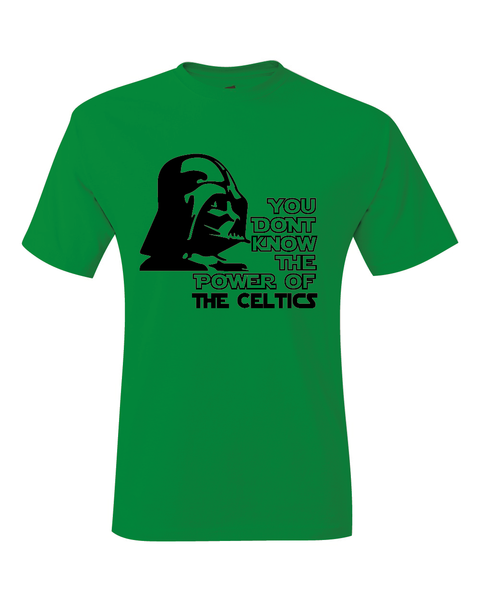 Boston Celtics Darth Vader Star Wars Style T-Shirt