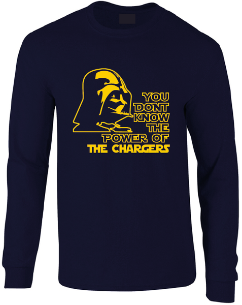 Los Angeles Chargers Darth Vader Star Wars Style Long Sleeve T-Shirt