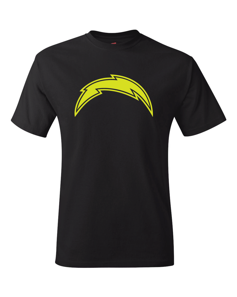 Los Angeles Chargers Logo Black Performance Dri-Fit Logo Tee