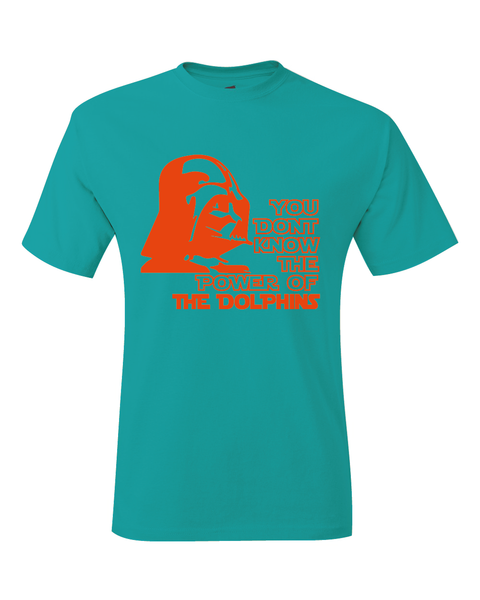 Miami Dolphins Darth Vader Star Wars Style T-Shirt