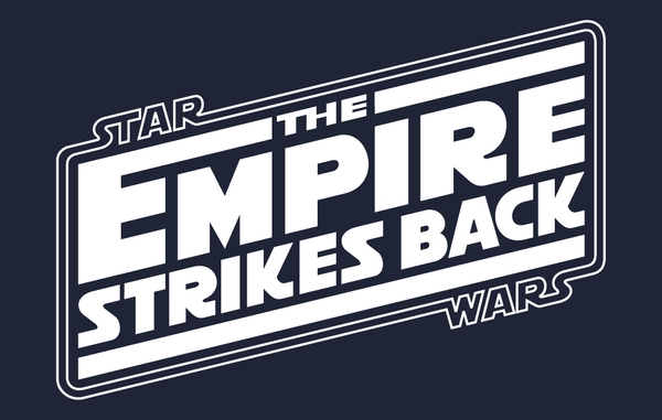Star Wars The Empire Strikes Back Logo Navy Blue T-Shirt