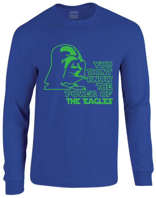 Florida Gulf Coast Eagles Darth Vader Star Wars Style Long Sleeve T-Shirt