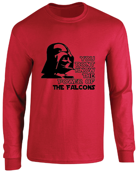 Atlanta Falcons Darth Vader Star Wars Style Long Sleeve T-Shirt