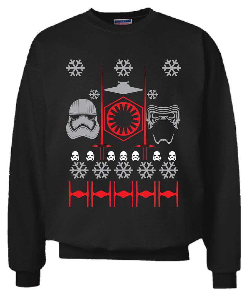 Star Wars The Last Jedi First Order Ugly Christmas Sweater Sweatshirt