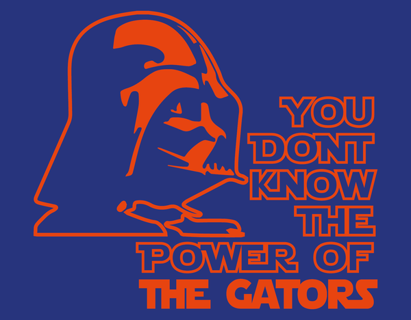 Florida Gators Darth Vader Star Wars Style Long Sleeve T-Shirt