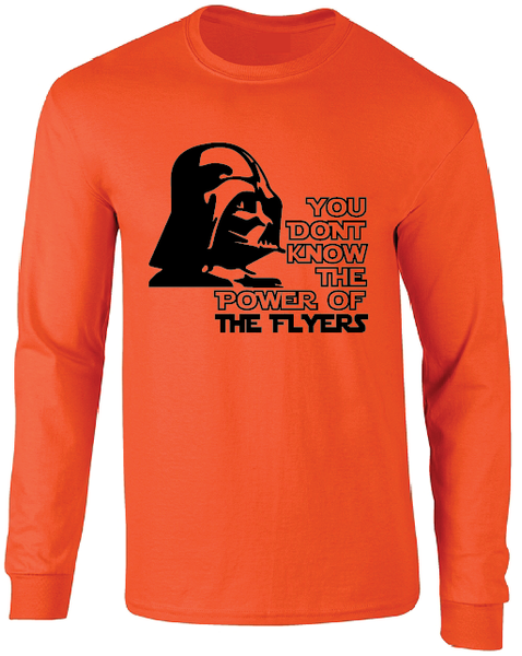Philadelphia Flyers Darth Vader Star Wars Style Long Sleeve T-Shirt