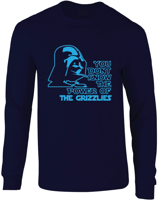Memphis Grizzlies Darth Vader Star Wars Style Long Sleeve T-Shirt