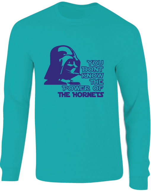 Charlotte Hornets Darth Vader Star Wars Style Long Sleeve T-Shirt