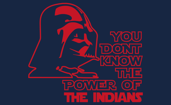Cleveland Indians Darth Vader Star Wars Style T-Shirt