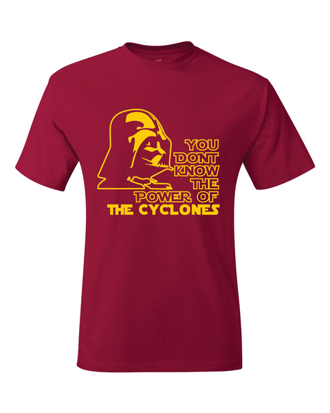 Iowa State Cyclones Darth Vader Star Wars Style T-Shirt