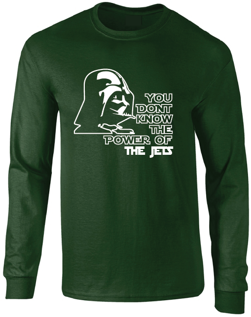New York Jets Darth Vader Star Wars Style Long Sleeve T-Shirt