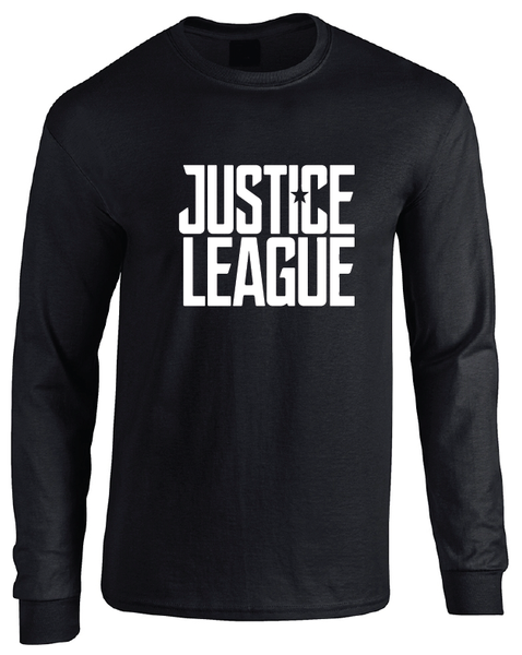 Justice League 2017 Movie Logo Adult Unisex Long Sleeve T-Shirt