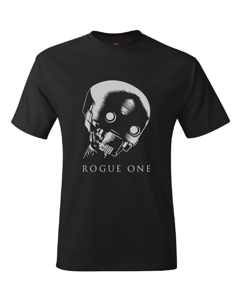 Star Wars Rogue One K-2SO (Kay-Tuesso) Black T-Shirt All Sizes S - 3XL
