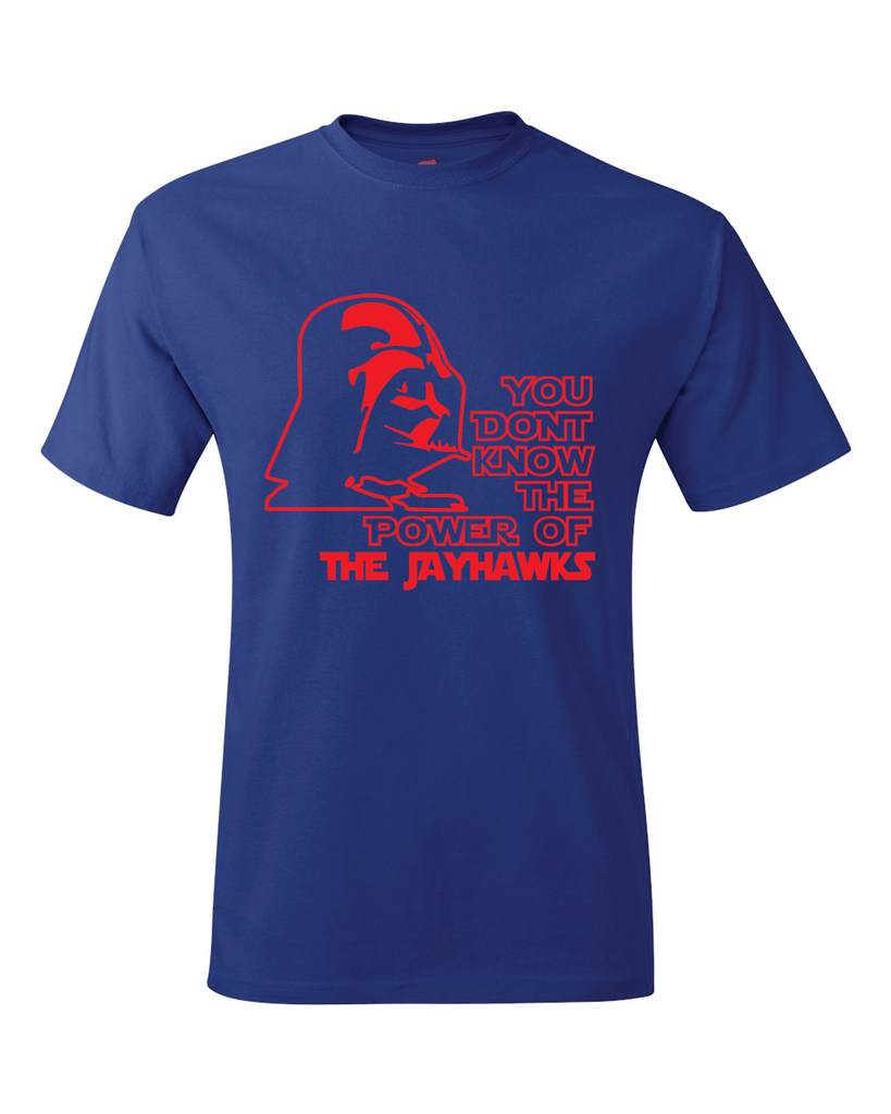 Kansas Jayhawks Darth Vader Star Wars Style T-Shirt