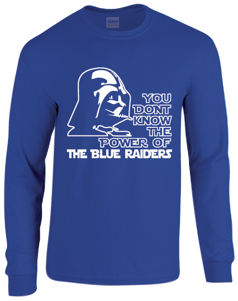 Middle Tennessee Blue Raiders Darth Vader Star Wars Style Long Sleeve T-Shirt