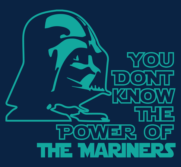 Seattle Mariners Darth Vader Star Wars Style T-Shirt