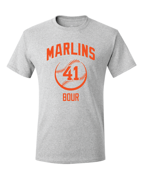 Miami Marlins Justin Bour Spring Training Jersey T-Shirt