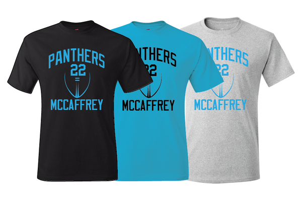Carolina Panthers Christian McCaffrey Training Camp Jersey T-Shirt