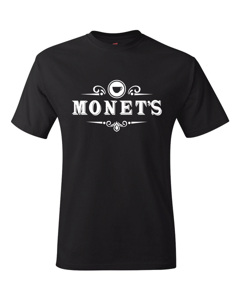 13 Reasons Why Monet's Cafe Black T-Shirt