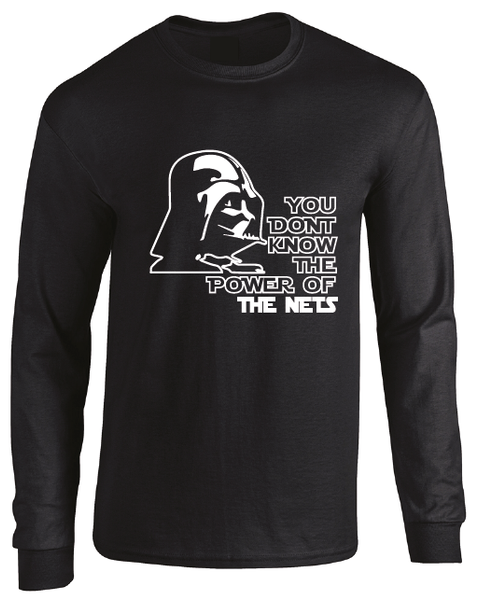 Brooklyn Nets Darth Vader Star Wars Style Long Sleeve T-Shirt