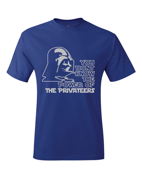 New Orleans Privateers Darth Vader Star Wars Style T-Shirt