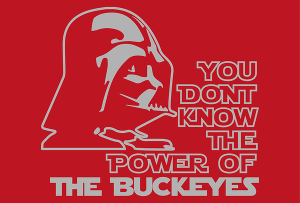 Ohio State Buckeyes Darth Vader Star Wars Style T-Shirt