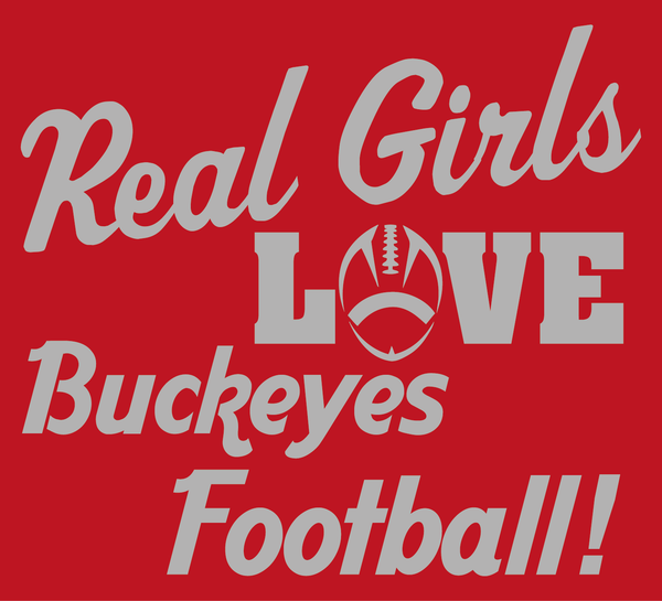 Real Girls Love Ohio State Buckeyes Football Women's V-Neck T-Shirt