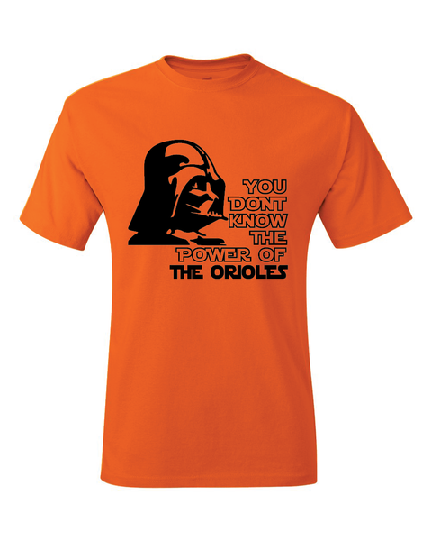 Baltimore Orioles Darth Vader Star Wars Style T-Shirt