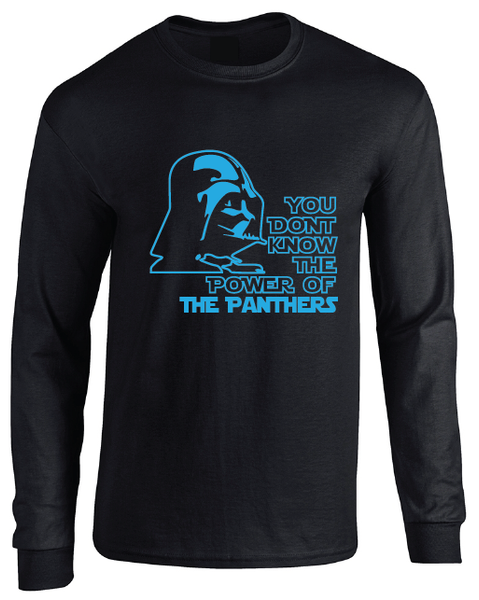 Carolina Panthers Darth Vader Star Wars Style Long Sleeve T-Shirt